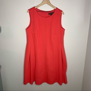 Madison Leigh Sleeveless Coral Textured Dress 16W